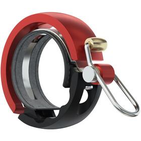 Knog Oi Luxe Fahrradklingel schwarz/rot